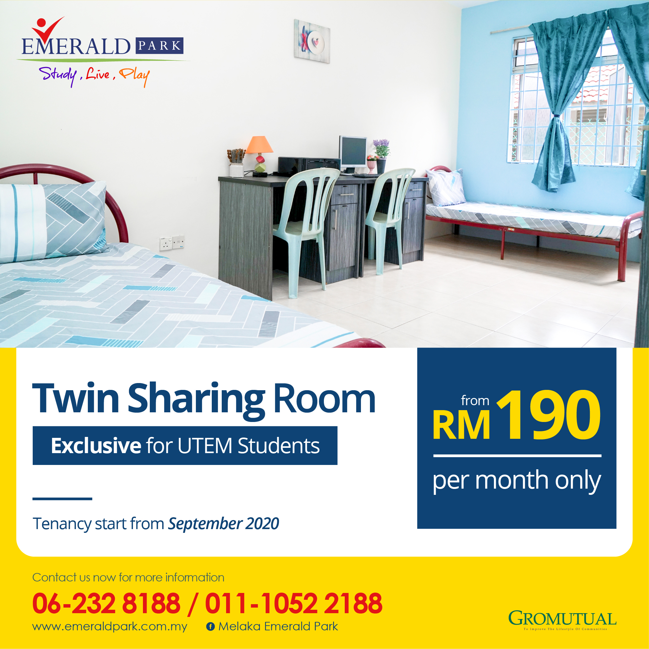 Twins sharing room for UTEM-01